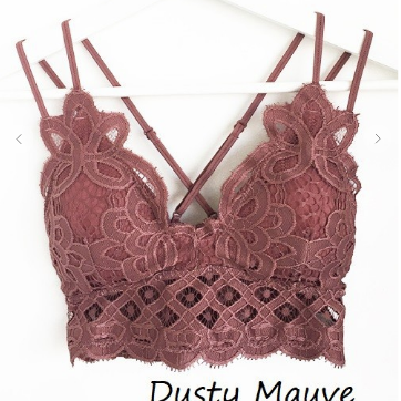The Favorite Bralette in Dusty Mauve