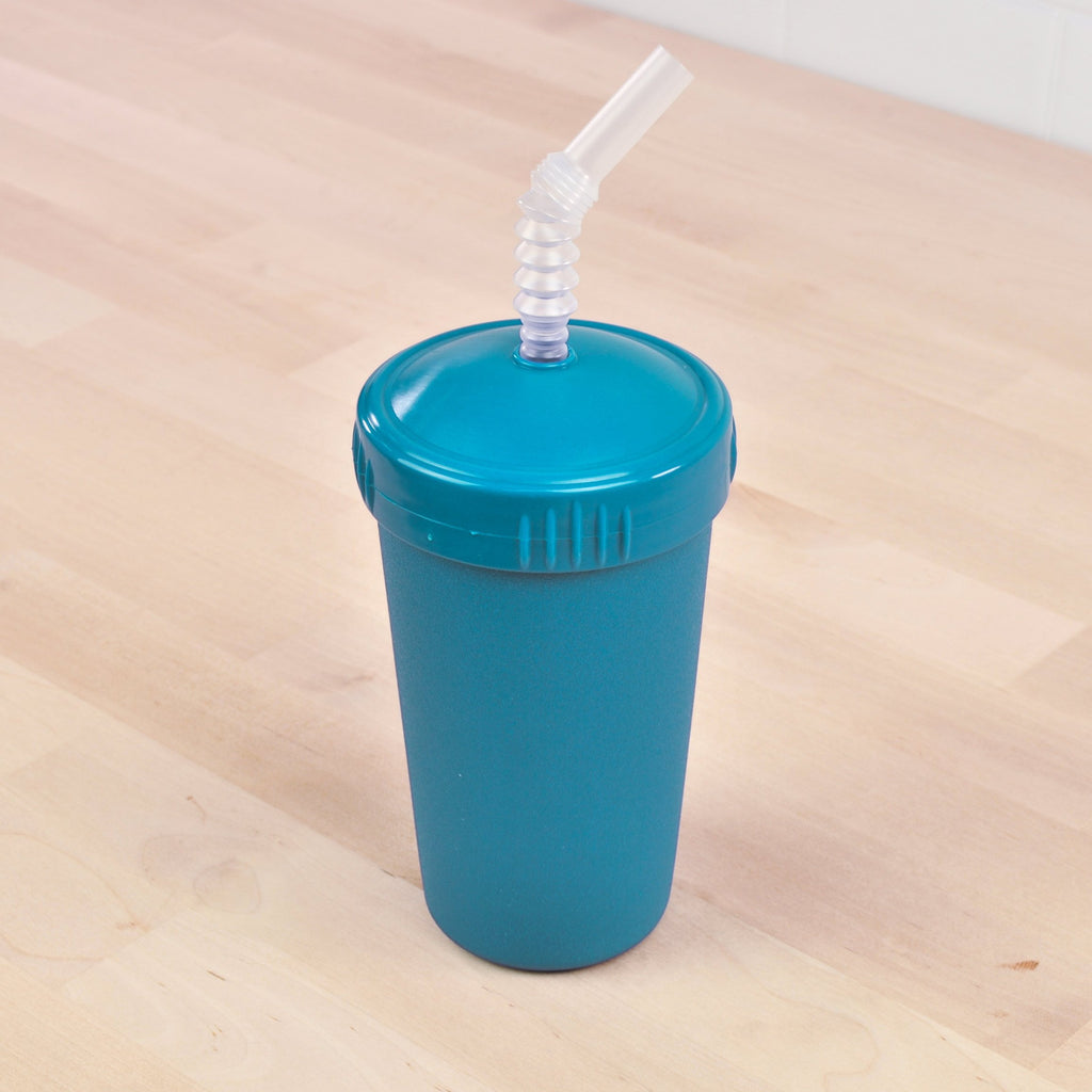 Teal Straw Cup 10oz