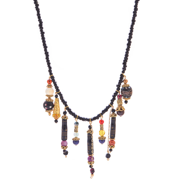 Gypsy Dream Gemstone, Mammoth & Antique Bead Necklace