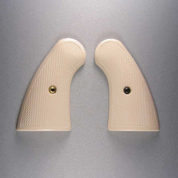 Colt Python Simulated Ivory Checkered Pistol Grips