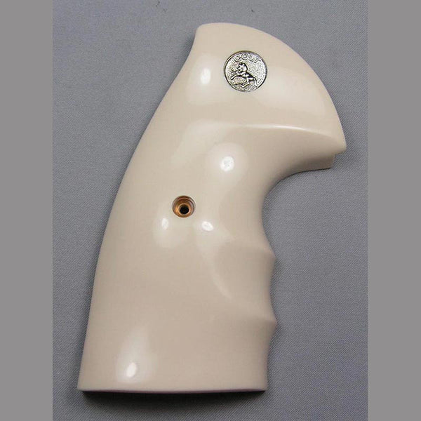 Colt Python Oversized with Finger Grooves Simulated Ivory Pistol Grips