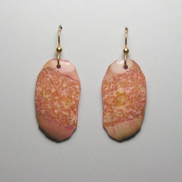 Fossil Walrus Gemtone Earrings