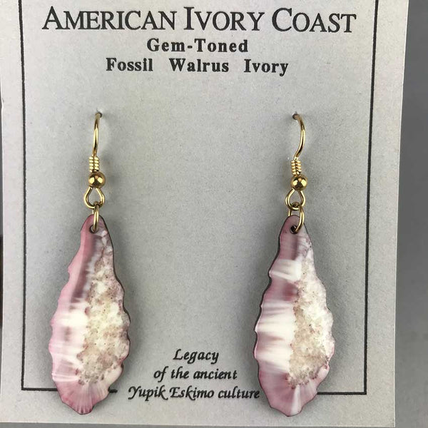 Fossil Walrus Gemtone Earrings Pair 31