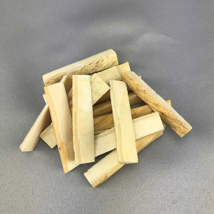 Three Wedge Shaped Narwhal Ivory Tusk Pieces - 03