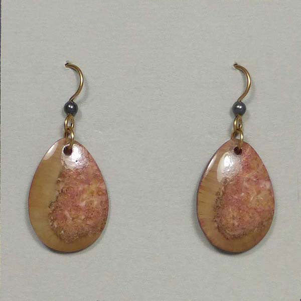 fossil walrus ivory earrings