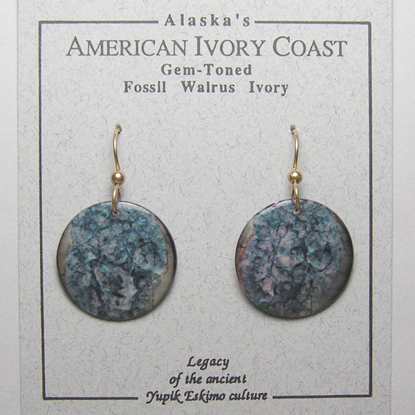 Fossil Walrus Gemtone Earrings Pair 12