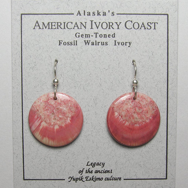 Fossil Walrus Gemtone Earrings Pair 22