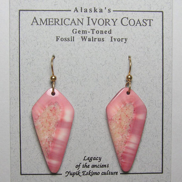 Fossil Walrus Gemtone Earrings Pair 26
