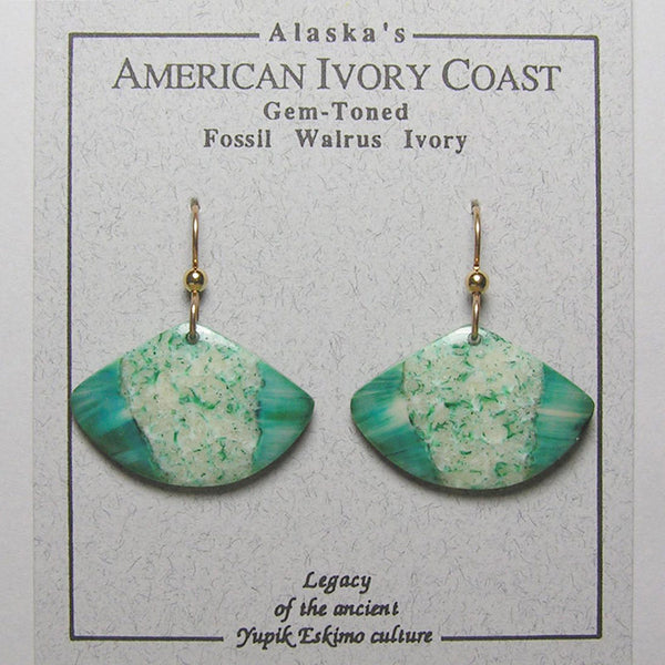 Fossil Walrus Gemtone Earrings Pair 27