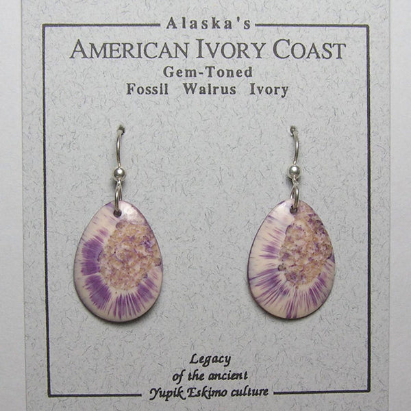 Fossil Walrus Gemtone Earrings Pair 29
