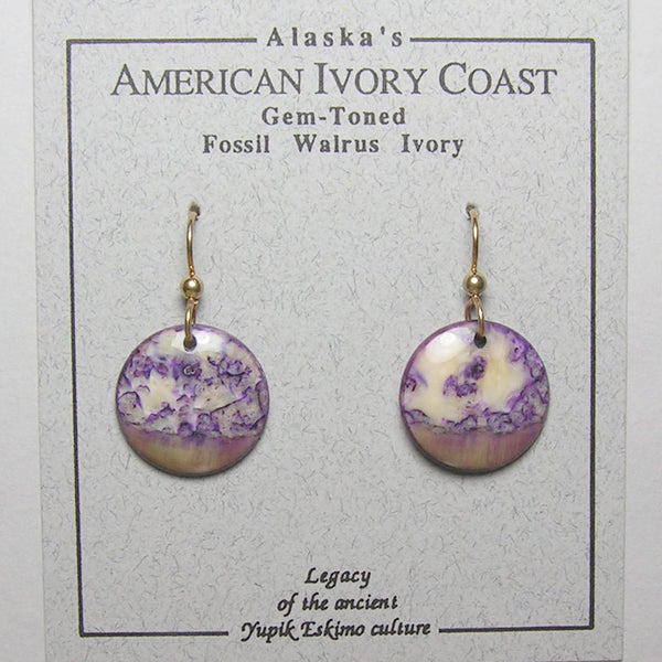 Fossil Walrus Gemtone Earrings Pair 38