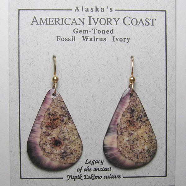 Fossil Walrus Gemtone Earrings Pair 40