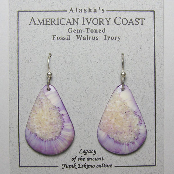 Fossil Walrus Gemtone Earrings Pair 42
