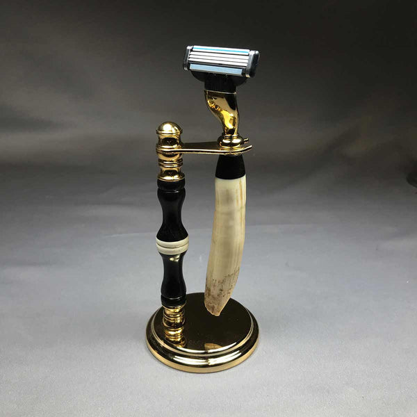 Hippo Ivory tusk shaver on stand