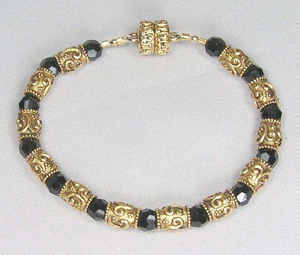 Antique Jet Bead Bracelet