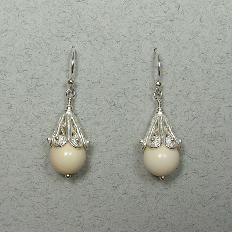mammoth ivory earrings