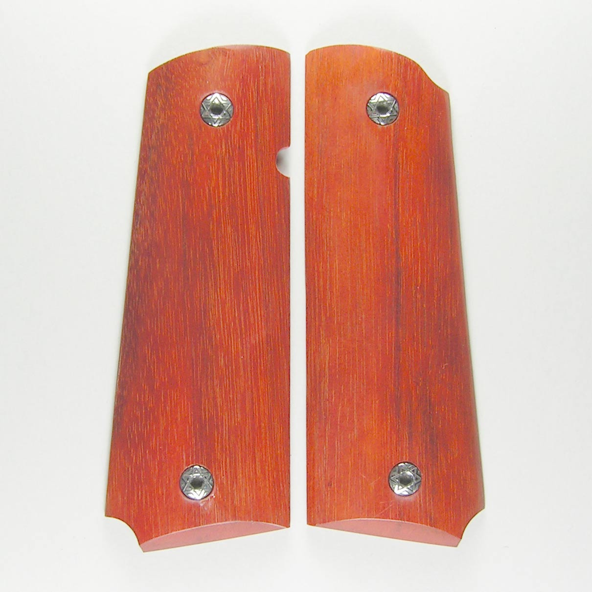 1911 Indonesian Red Wood Pistol Grips