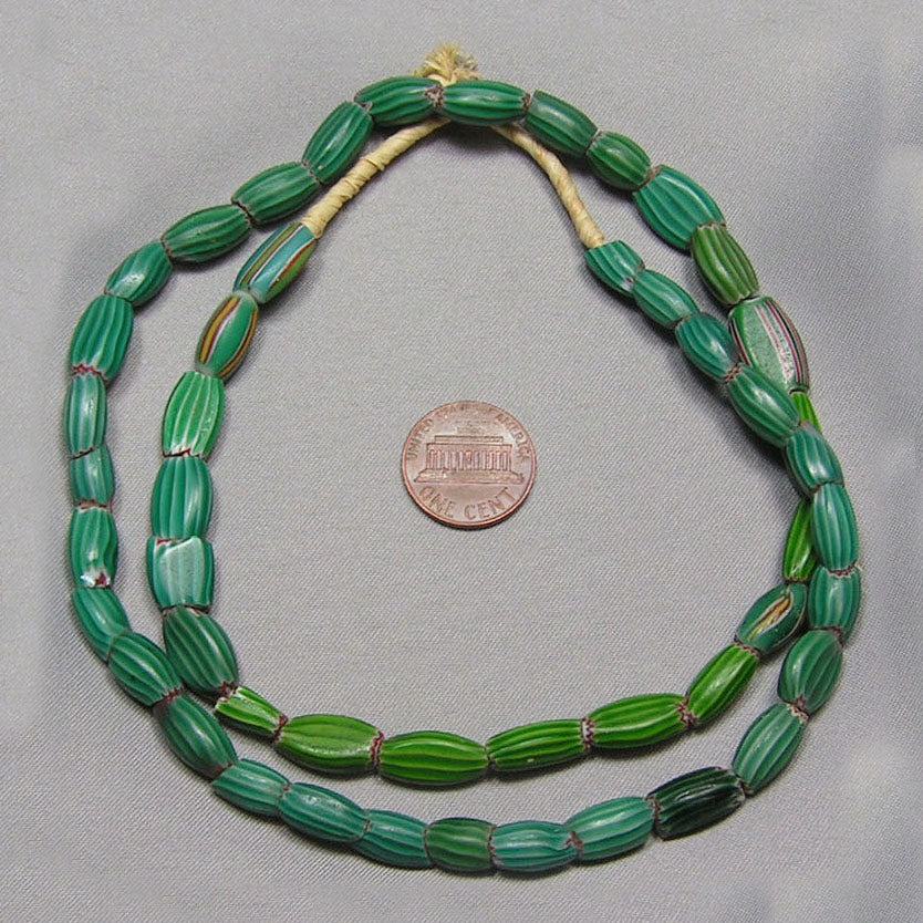 Green Chevron Trade Beads Mix (C)