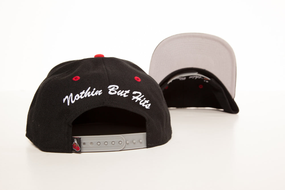 "Load image into Gallery viewer, ""NBH"" Snapback: Black/White"