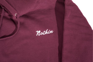 "Load image into Gallery viewer, Maroon ""Nothin"" Hoodie"