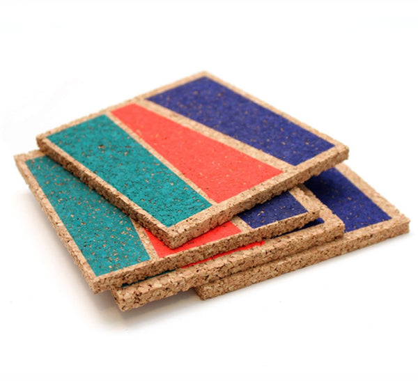 Color Blocked Coasters - Bright