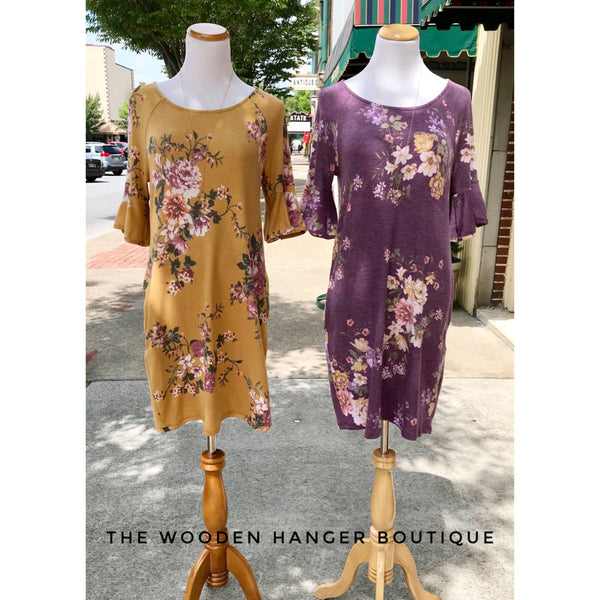 Full Attention Floral Dress - The Wooden Hanger Boutique