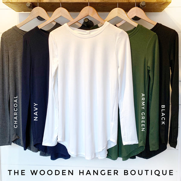 CURVY Simply Perfect Long Sleeve Top - The Wooden Hanger Boutique