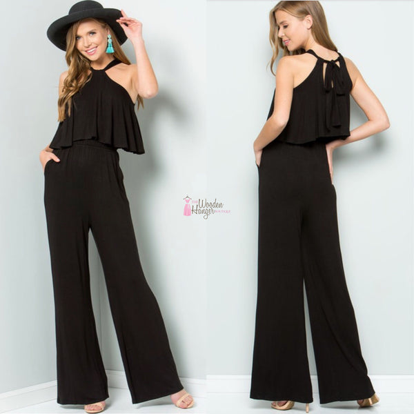 Midnight Sky Jumpsuit - The Wooden Hanger Boutique