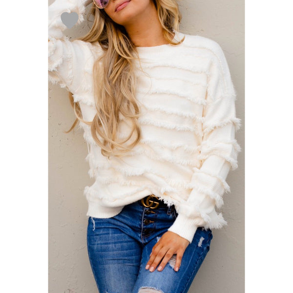 Dancing in the Snow Sweater - The Wooden Hanger Boutique
