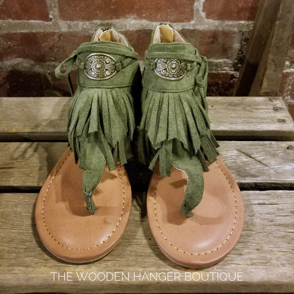 Chia Fringe Sandal - The Wooden Hanger Boutique