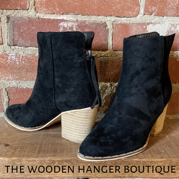 Walk the Line Bootie - The Wooden Hanger Boutique