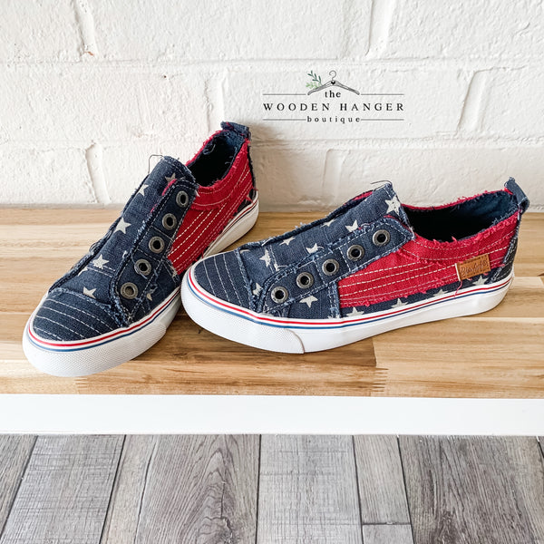 Stars and Stripes Sneakers - The Wooden Hanger Boutique