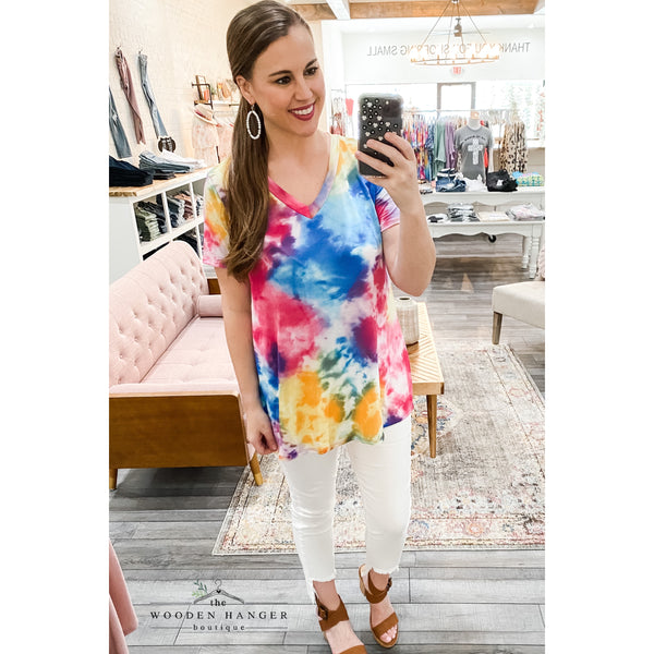 Rise Up Top, Tie Dye - The Wooden Hanger Boutique