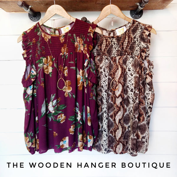 Capture The Moment Print Top - The Wooden Hanger Boutique