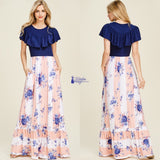 Sunday Brunch Floral Maxi - The Wooden Hanger Boutique