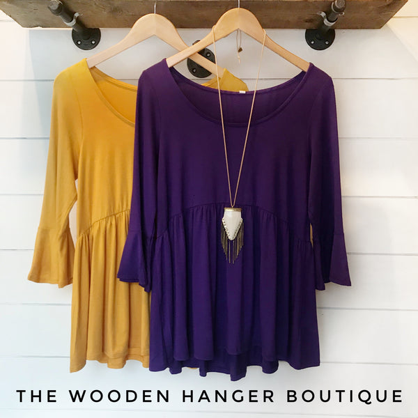 CURVY Safe Haven Peplum Top - The Wooden Hanger Boutique