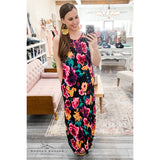 Flower Garden Maxi Dress - The Wooden Hanger Boutique