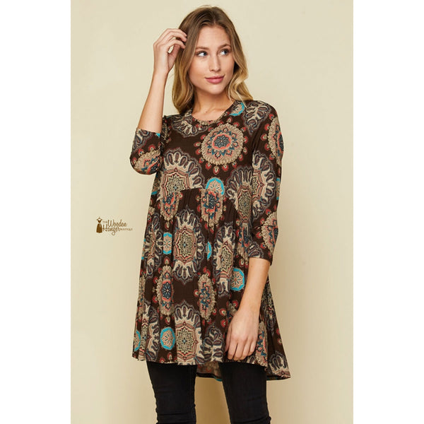 CURVY Give Thanks Babydoll Top - The Wooden Hanger Boutique