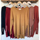 Better Than A Blanket Sweater, V-Neck - The Wooden Hanger Boutique