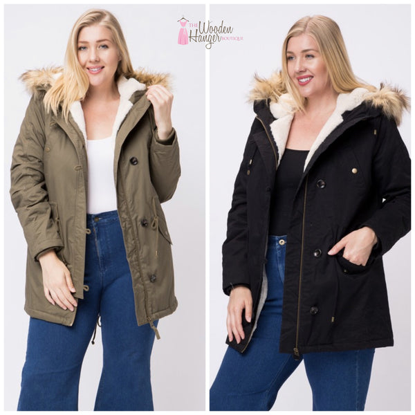 CURVY Build a Snowman Jacket - The Wooden Hanger Boutique