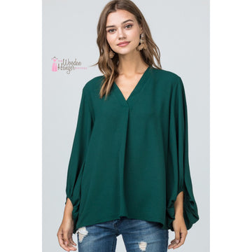 On Repeat Bubble Sleeve Top