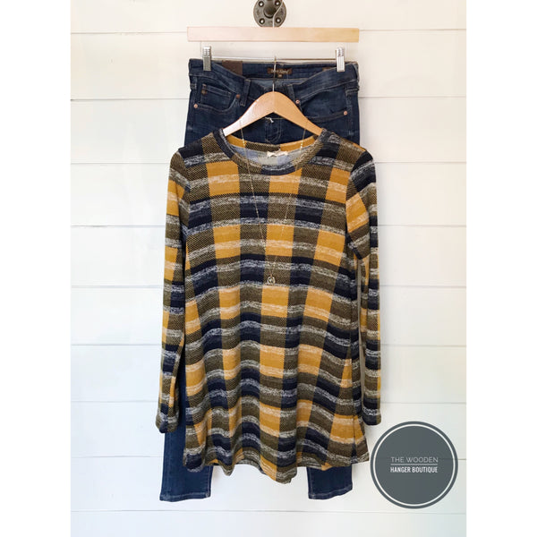 Fall Festival Plaid Tunic - The Wooden Hanger Boutique