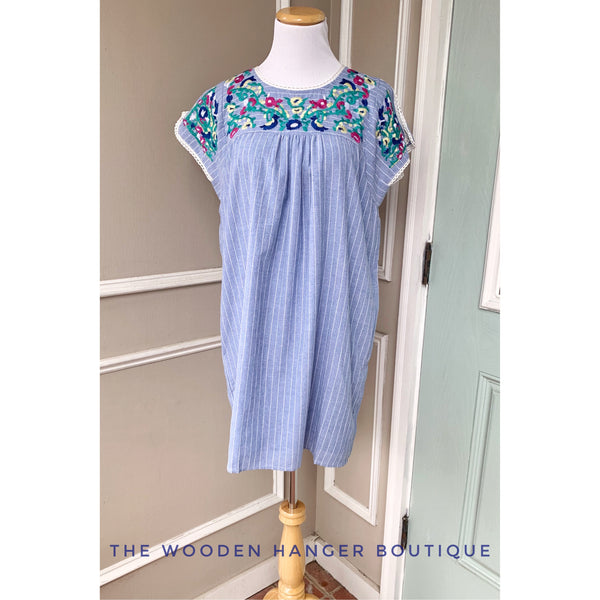Coastal Evenings Dress - The Wooden Hanger Boutique