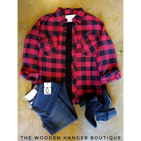 Into The Woods Flannel - The Wooden Hanger Boutique