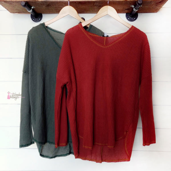 Different Side Knit Sweater - The Wooden Hanger Boutique