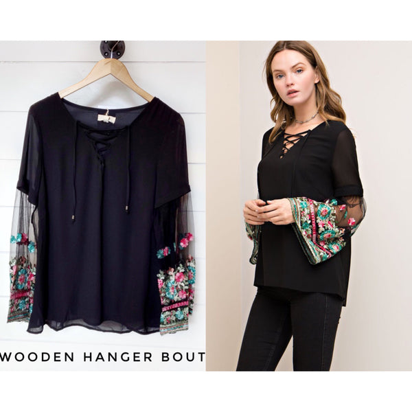 Just One Love Floral Top - The Wooden Hanger Boutique