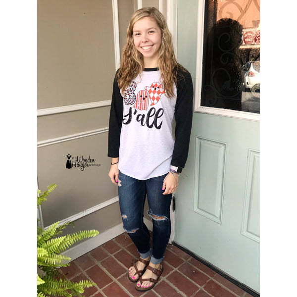Boo Y'all Baseball Tee - The Wooden Hanger Boutique