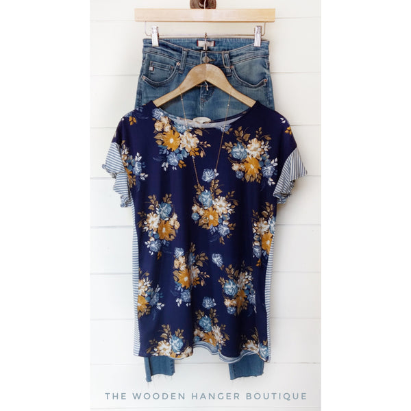 Ends Of The Earth Floral Top - The Wooden Hanger Boutique