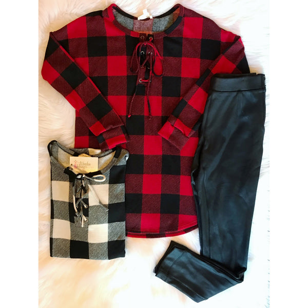 Cabin Fever Plaid Top