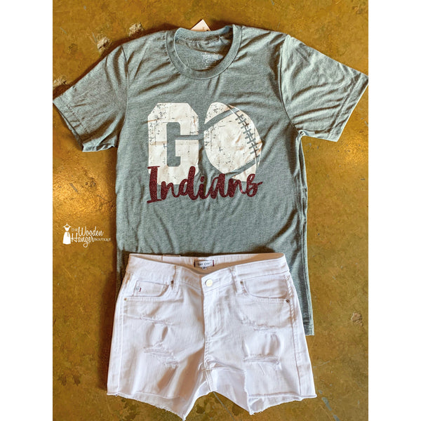Go Indians Football Tee - The Wooden Hanger Boutique